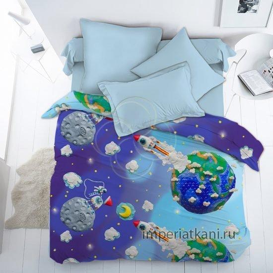 13095 пластилиновый космос детский поплин 150см