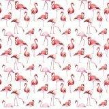 Детская ткань из поплина «Фламинго»