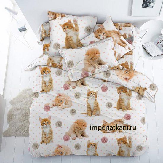 16084-1 Рыжие котята поплин детский