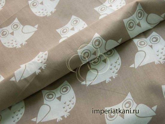 1682-18 ткань детская совы