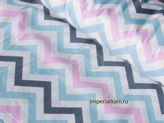 1797-1 поплин зигзаги трехцветные