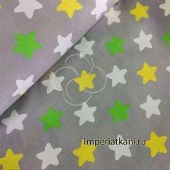 Детская ткань из поплина «Прянички трехцветные»