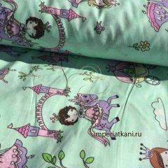 Ткань поплин «Маленькие принцессы»