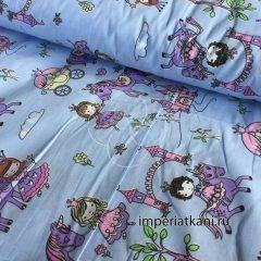Детская ткань из поплина «Маленькие принцессы»