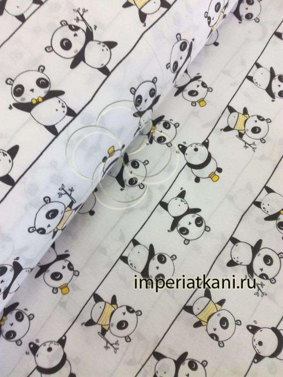 1957-1 панда детский поплин