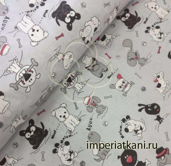 1984 Собачки поплин детский