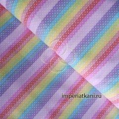 2158 Разноцветный горошек поплин детский
