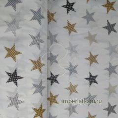2179-1 звезды пэчворк бежевый бязь детская