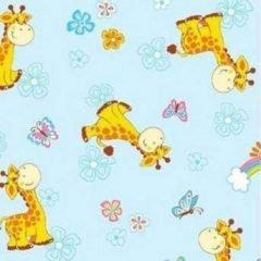 Фланель детская 5370-1 ом жирафы