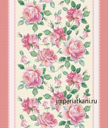 Вафельная ткань «Розы»