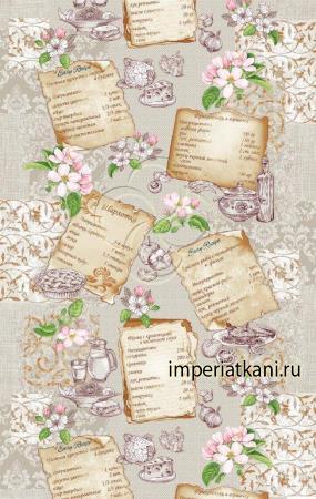 Вафельная ткань «Рецепты»