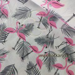 7277-1 Фламинго бязь детская узбекистан