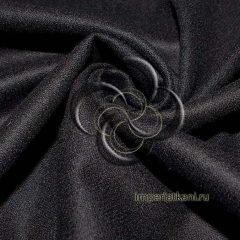 Фланель черная 75 см однотонная
