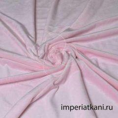 Плюш розовый гладкий