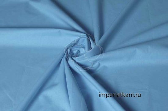 голубой поплин однотонный 220