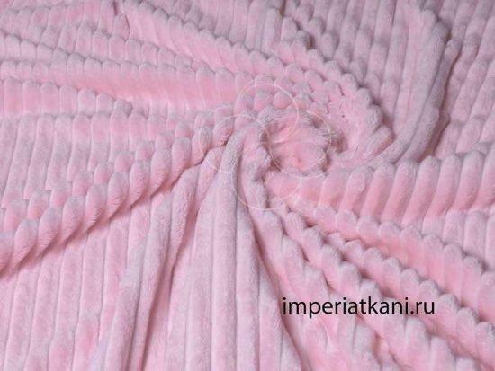 плюш полоса розовый